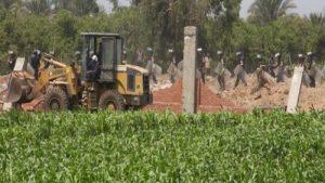 إزالة التعديات على الأراضى الزراعية
