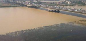 اللون الأصفر يكسو مياه النيل