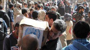 مساعدات غذائية للسوريين