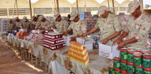الجيش يجهز عبوات غذائية لطرحها على المواطنين