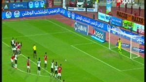 صلاح يسجل هدف مصر الأول فى مرمى منتخب غانا