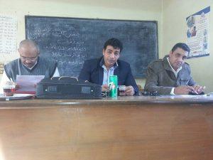 د.معمر جابر أثناء إدارته اللقاء مع قيادات العمل الإرشادى بمحافظة المنوفية