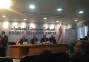 وزير الزراعة أثناء إلقاء كلمته خلال افتتاح مركز التميز المصري لأبحاث تحلية المياه بمركز بحوث الصحراء