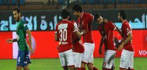 لقطة من مباراة الأهلى ومصر المقاصة
